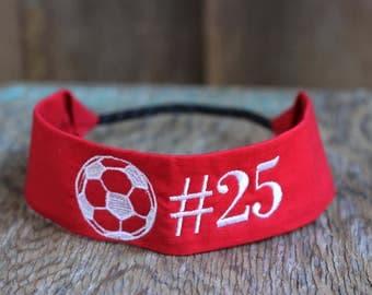 Custom Sports/Jersey Number Headband
