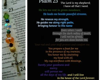Psalms 23 'The Lord is my Shepherd' bookmark