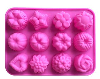 3D Flower Heart Fondant Cake DIY Mold Silicone Mould Sugarcraft Baking Fondant Cake Decorating Tool Chocolate Candy Pastry Mould
