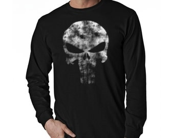 Punisher Long Sleeve Black T-Shirt (Ready to ship)