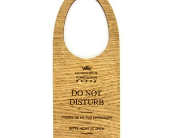 Wooden Do Not Disturb Door Hangers. Hotel, B&B, Guest House. Gift. Customised.  - DNDWOOD1