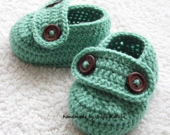 Shoes for baby, handmade baby boots, loafers for newborn baby, 0-3 months baby or 3-6 months baby, crochet baby shoes