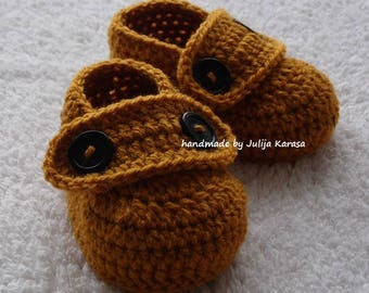 Crocheted baby shoes, baby boots crochet, handmade baby booties, baby shower gift, newborn booty, newborn shoes, baby booties crochet
