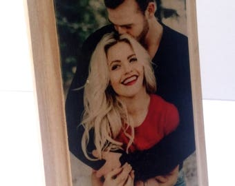 Picture on Wood Custom Photo on Wood Reclaimed Wood Photo Transfer Wood Photo Plaque Rustic Portrait