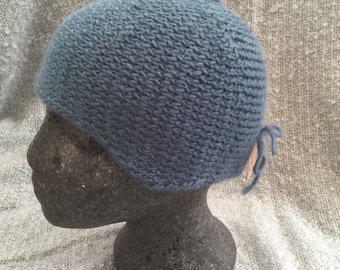 Hand knitted alpaca  mix hat