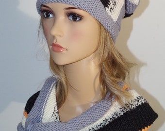 Easy hat and loop-collar