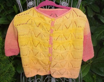 Yellow Ajour-jacket made of pure cotton