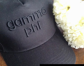 Gamma Phi Beta 3D Embroidered Hat