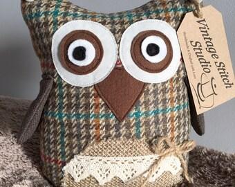 Handmade Doorstop - Owl Doorstop - Shelf Sitter - Home Decor - Desk buddy
