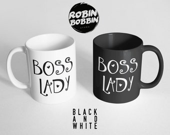 Boss Lady - Black and White, Girlfriend Gift, Anniversary Gift, Gift for Wife, Gift For Her, Gift For Sister, Women's Day Gift, Mother Day