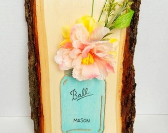 Hand Painted Mason Jar Plaque