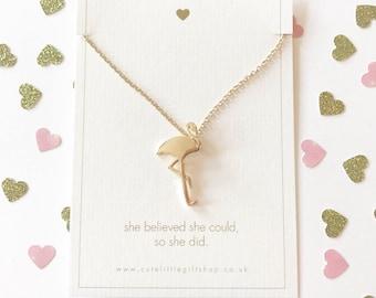 Flamingo Necklace - Gold