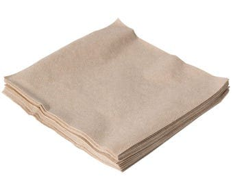 """300 Count Natural Kraft Luncheon Napkin 12""""X12"""", Lunch Napkin, Napkins, Eco-Friendly Napkins, Tableware, Rustic Wedding, Rustic Party"""