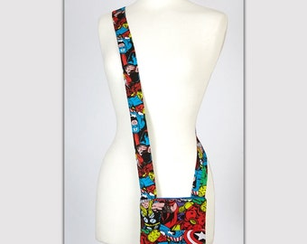 Superhero themed messenger bag