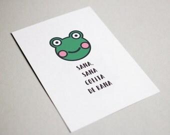 Sana Sana Colita de Rana | Spanish Feel Better Printable Greeting Card Download