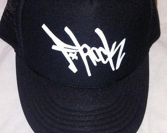 F-Rock Tag Foam Trucker Hat (Black)