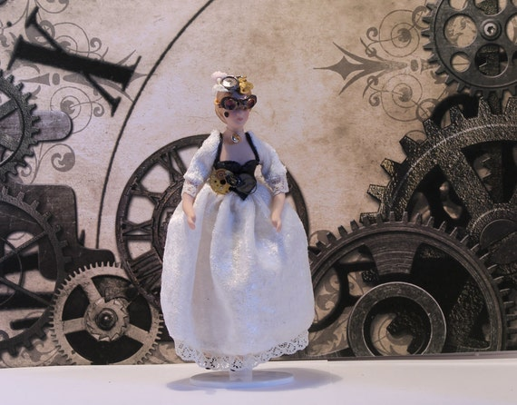 Steampunk Lady 'Katherine' Dollshouse Scale 1/12th