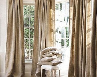 Curtains Ideas burlap sack curtains : Burlap curtain | Etsy