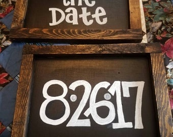Wooden Chalkboard Sign (2)