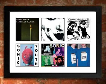 SONIC YOUTH Vinyl Albums Limited Edition Unframed Art Print Mini Poster