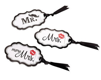 Mr. Mrs. and More Mrs wedding gift luggage tags