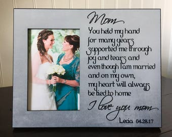 Mother daughter picture frame // Wedding picture frame mother of the bride // gift for mom // you held my hands for many years