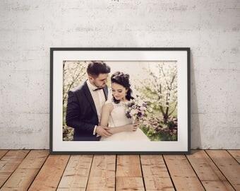 Brannan Filter Framed Fine Art Print Anniversary Print Wedding Fine Art Print Giclee Print Custom Wedding Print Artistic Print Photo