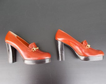 Vintage Vero Cucio Platform High Heel Shoes