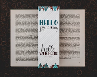 Hello - Throne of Glass inspired bookmarks