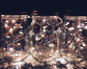 Mason jar copper wire firefly fairy light decoration light/ wedding centrepieces
