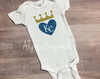 Kc royals baby etsy kc royals onesie baseball onesie royals baby girl onesie royals baseball negle Choice Image