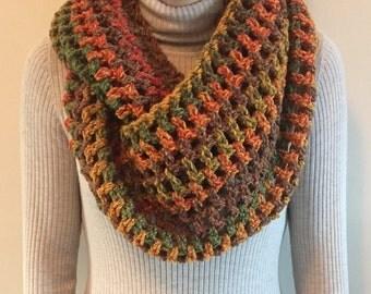Autumn colours Crochet Scarf