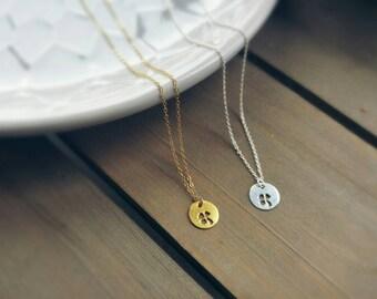 SHAMROCK CHARM gold filled necklace