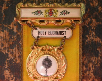 Holy Eucharist Pin Ribbon From Ghost town in New Mexico