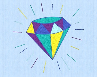 Blingy Gem - Machine Embroidery - Digital Download - 2 Sizes