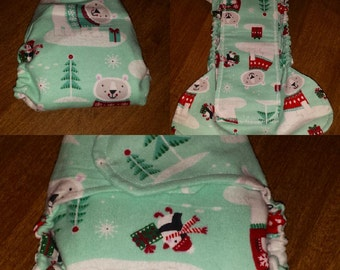 Fitted cloth diaper, size small fits 9-15 lbs.