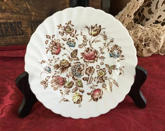 Vintage Johnson Brothers, Ironstone Transferware, Staffordshire Bouquet Bread plates, England