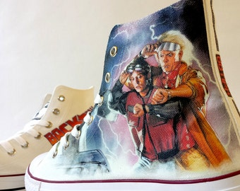 Time traveller custom shoe decoration