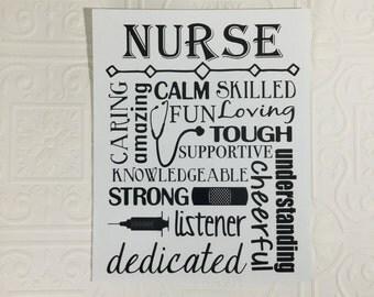 Nurse Print - 8 x 10 inches