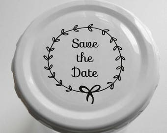 "Transparent or Silver Foil ""Save the Date"" Labels Stickers Seals #R4027"