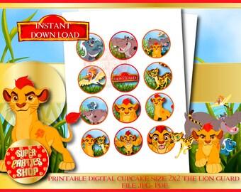The lion Guard Digital Printable, the lion guard Cupcake Toppers , the lion king cupcake,the lion guard Party ,Birthday,the lion King topper