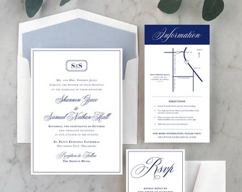 Classic + Clean Wedding Invitations