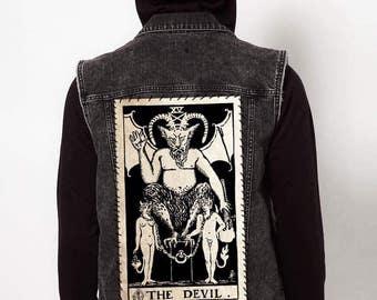 """The Devil Tarot // Back Patch 13""""x8"""""""