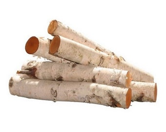 "24"" White Birch Logs, Small & Large, Bundle of 6"
