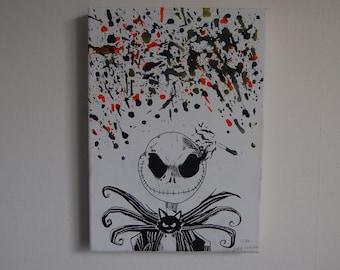 Jack Skellington Melted Crayon Art