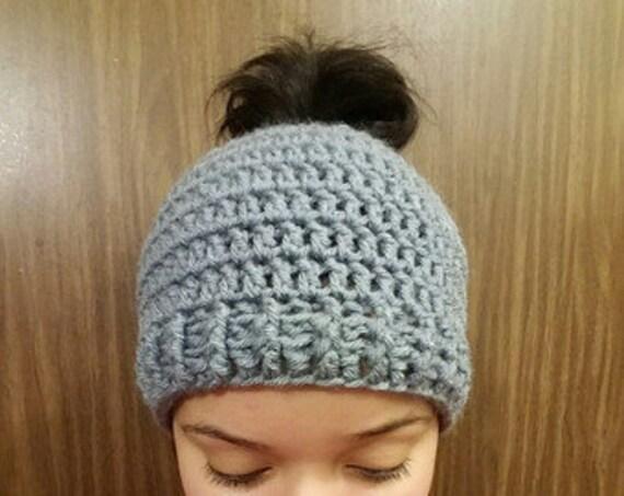 Bun/Ponytail Hat