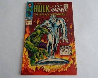 Tales to Astonish #93 - Incredible Hulk & Silver - Surfer Bronze Age - 5.5/6.0 F - Off White / Cream Pages