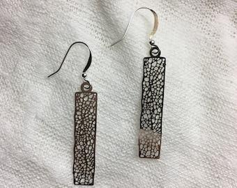 Beautiful earrings filigree.
