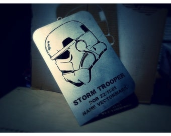 Personalized storm trooper dog tag star wars