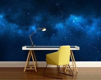 Galaxy wall mural, wall mural stars, nebula wall mural, ceiling galaxy, color wall mural, space star wall mural, ceiling wall mural, ceiling